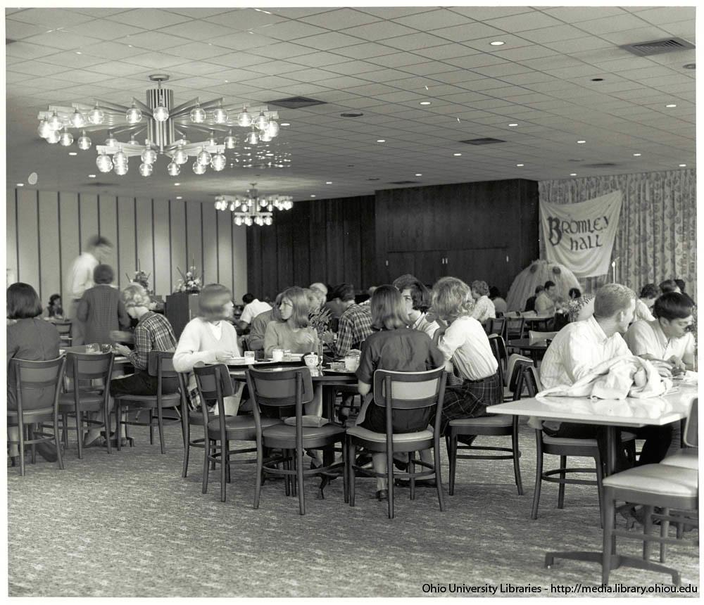Ohio University Bromley Hall Dining Hall Mid 1960s Flickr