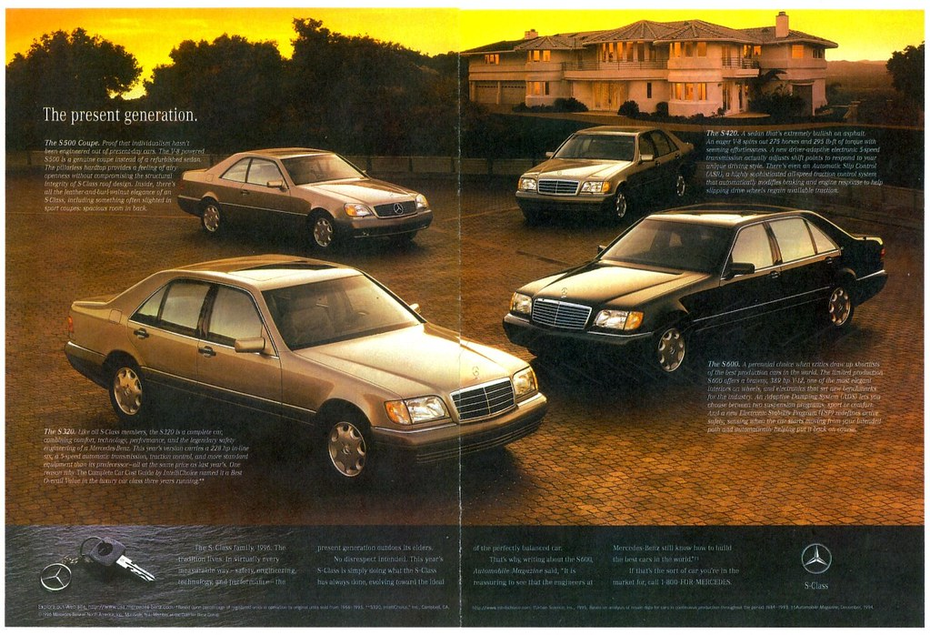 1996 mercedes benz s class models ad pages 3 4 flickr for 1996 mercedes benz s500
