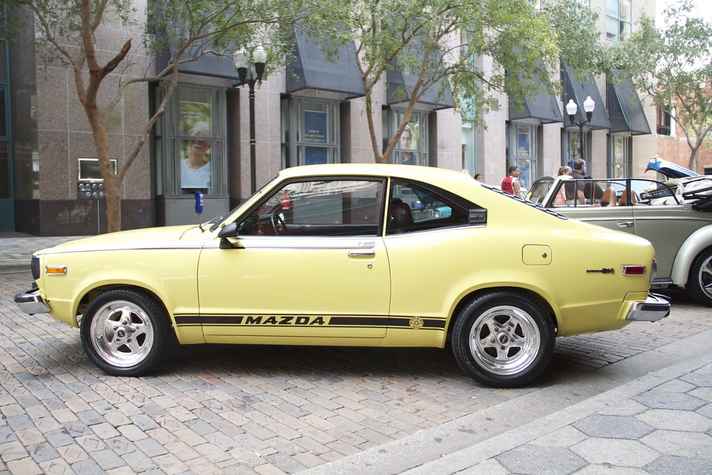 Yellow Mazda Rx3 Side Profile Of A Clean Classic Mazda