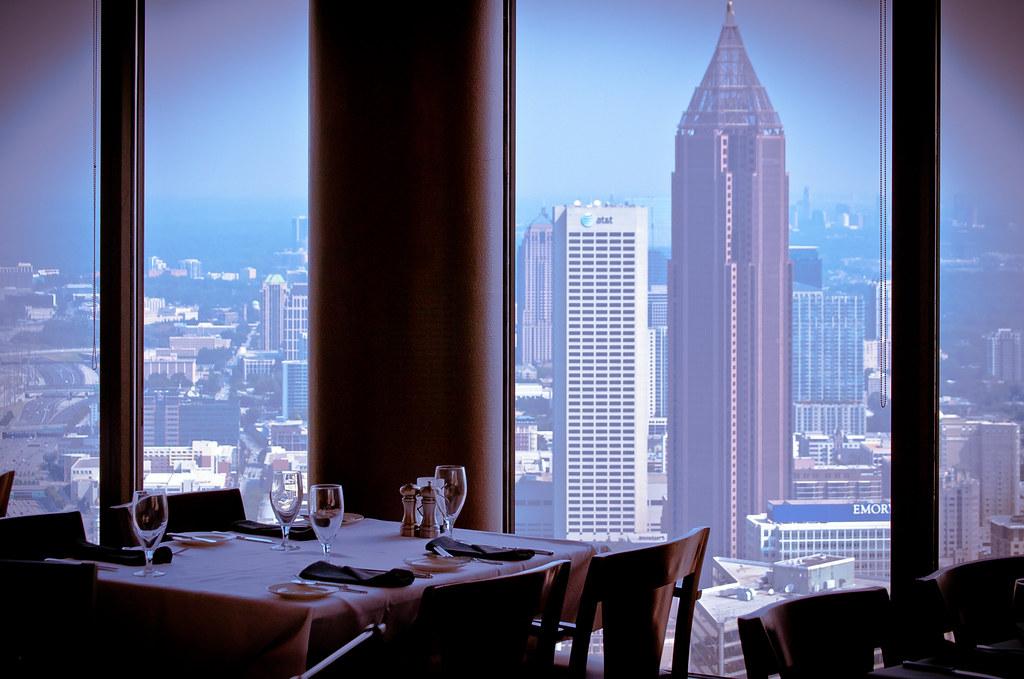 Atlanta Ga View North From Sundial Restaurant Floor 7