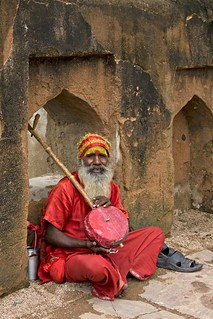 Red-robed musician | by bag_lady