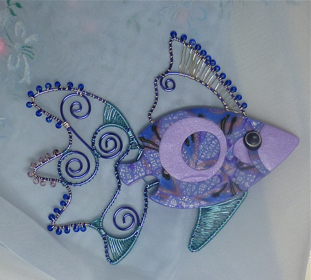Polymer Clay & Colored Wire Fish | With most of my mixed med… | Flickr