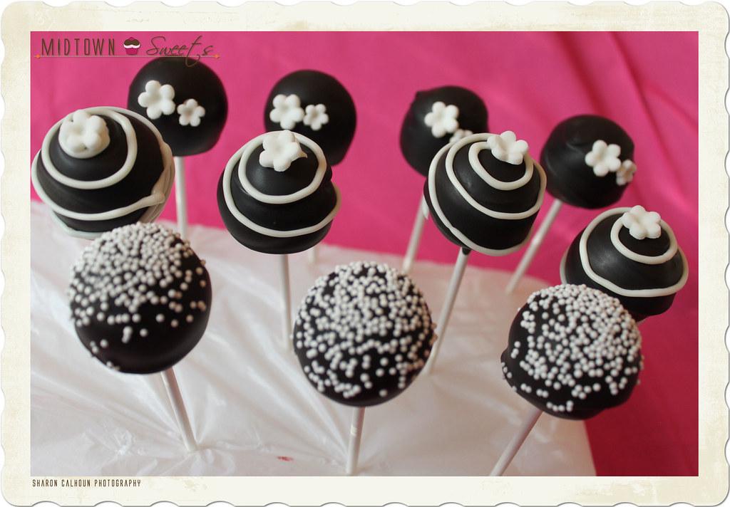 Black White And Red Cake Pops