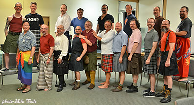 Kilt & Sarong Night, Men's Fall Knitting Retreat 2011 | by panopticon