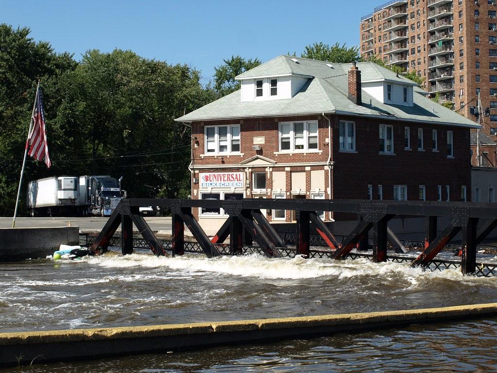 Flooded Alfano Island Bridge Over Passaic River, Paterson,u2026 | Flickr