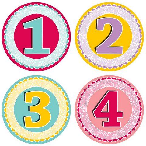Pegatinas cumple mes para beb s m s modelos en www - Pegatinas para la pared ...