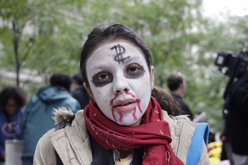 Zombie woman at Occupy Wall Street | by WarmSleepy