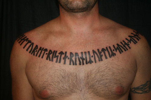 Gallery Rune Tattoo Chest