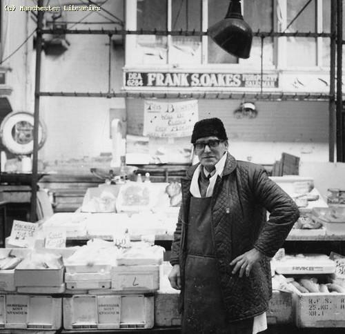 Fish market stall 1978 fish market manchester frank for Franks fish market