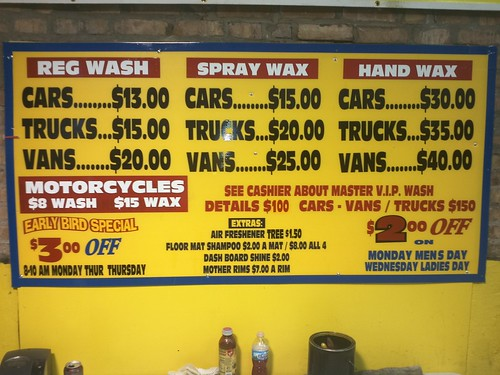 Car Wash Prices: Master Hand Car Wash Price List