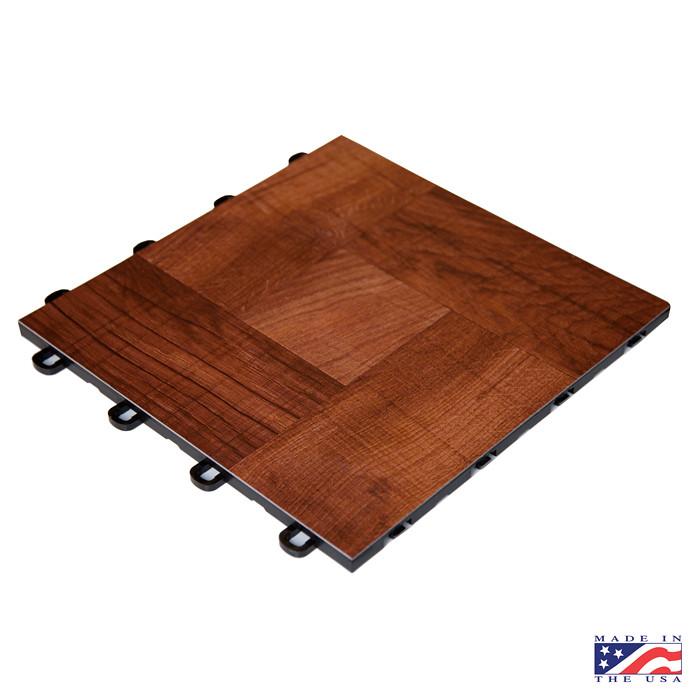 Portable Dance Floor Vinyl : Laminate red wood interlocking floor tiles the