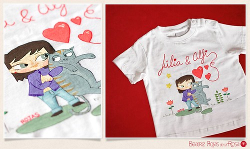 Camiseta Júlia & Alfi  // Júlia & Alfi T-shirt | by Beatriz Rojas de la Rosa [illustration]