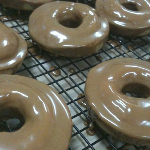#glutenfree #dairyfree maple glazed donuts to get you through hump day! | by zestbakery