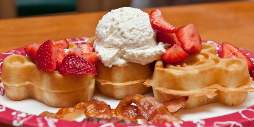 Strawberry Waffles | by Roger Weeks