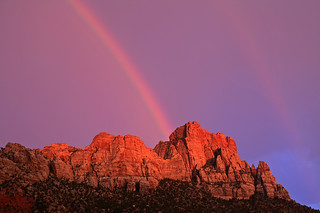 Zion double rainbow | by Misha Logvinov