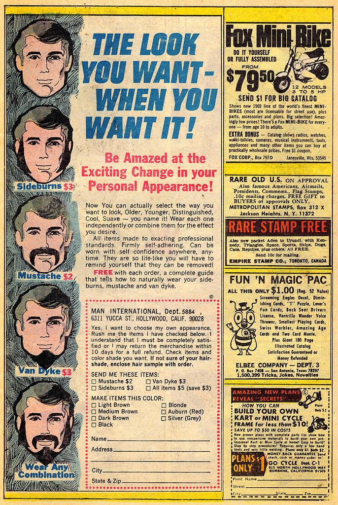 Fake Facial Hair Advert U S 1970s O M G I M Not Sure W Flickr