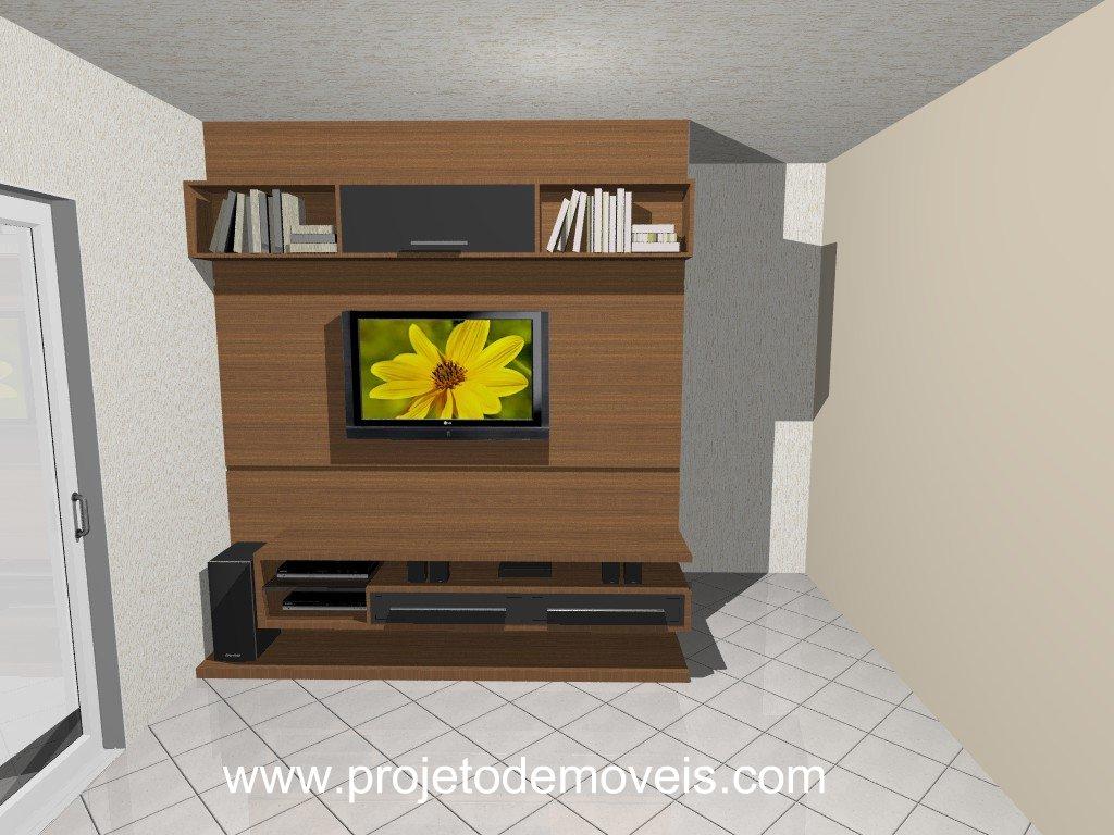 Sala Com Painel Pra Tv ~ projeto de móvel para sala com painel para TV LCD  projeto