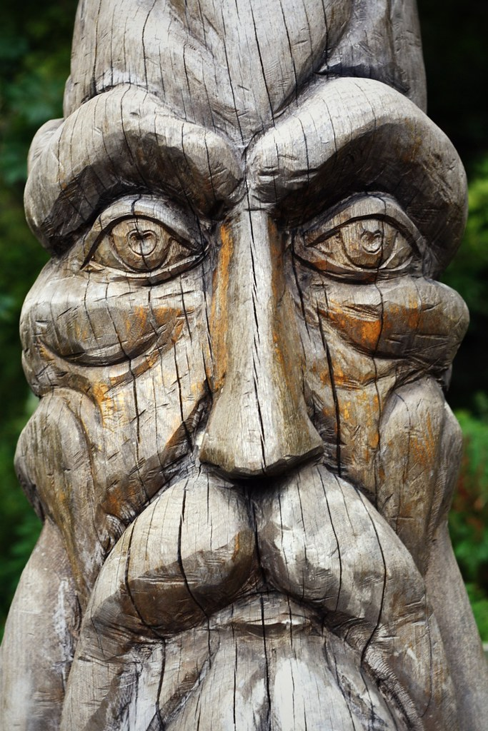 Wood face this is the on a carving art