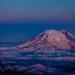 Mount Rainier just before sunrise, from 18,000 feet.  DSC_9453