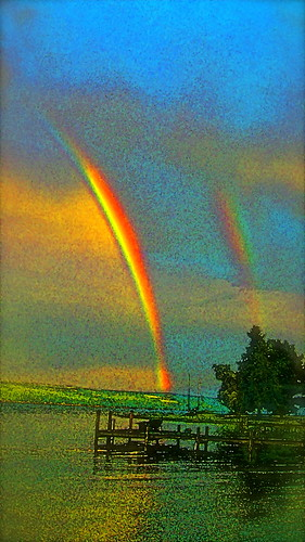 Rainbow Off Fir Tree Point | by Michael Gillan Maxwell