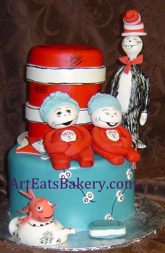 Cat In The Hat Custom Kids Birthday Cake Cat In The Hat Cu Flickr