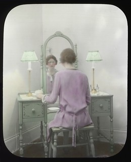 Woman at mirror, circa 1930s | by Seattle Municipal Archives