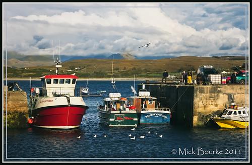 Cleggan Pier Galway Ireland Cleggan Is A Picturesque