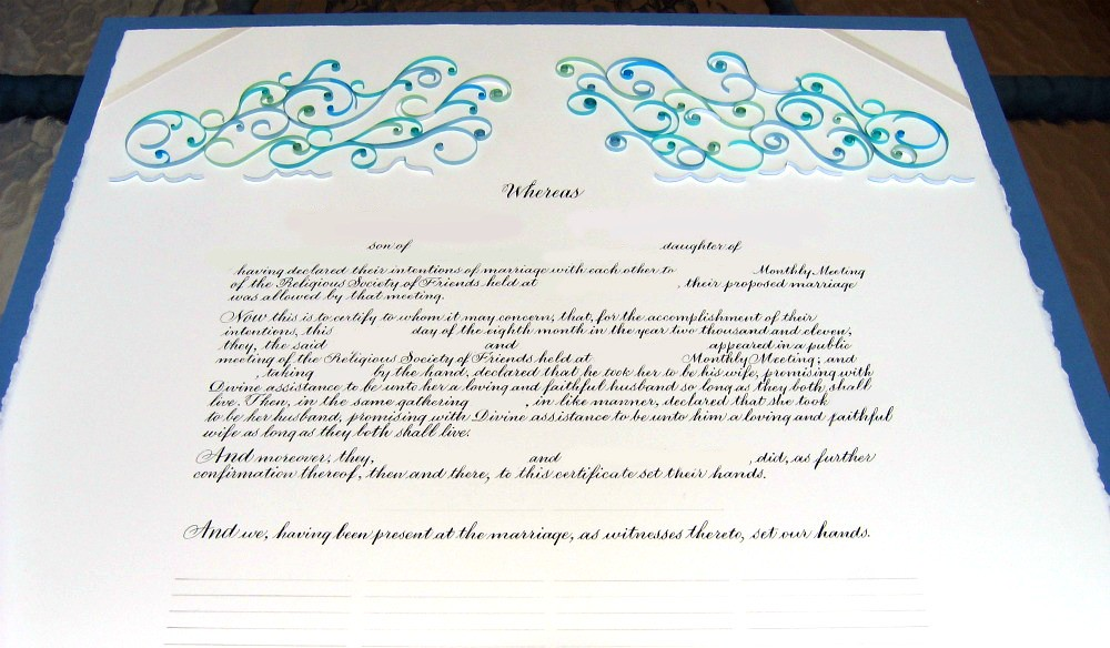 Quilled Quaker marriage certificate | Waves Blogged: www.all… | Flickr