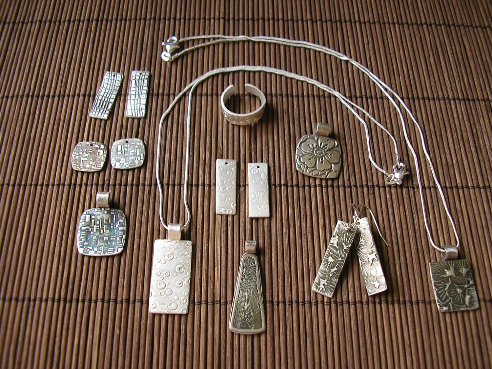My silver clay jewelry 999 fine silver after using live for Fine silver 999 jewelry