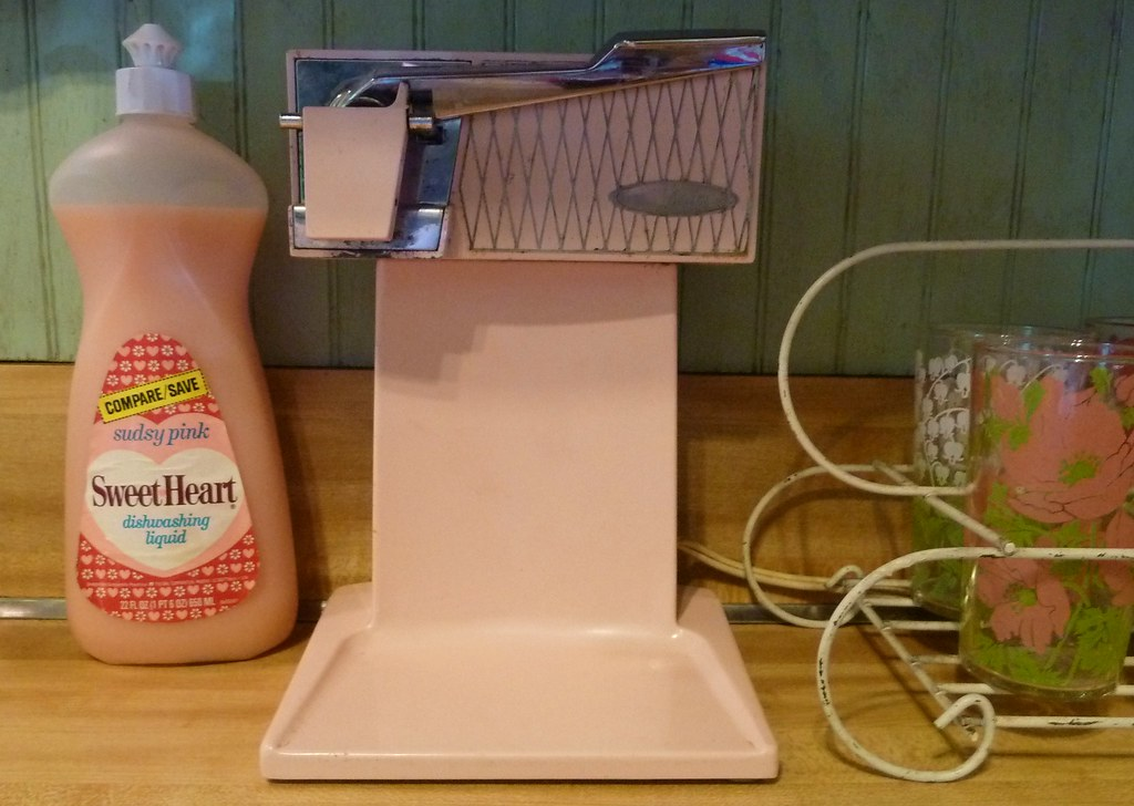 Vintage Pink Sunbeam Can Opener | I love that bottle of ...