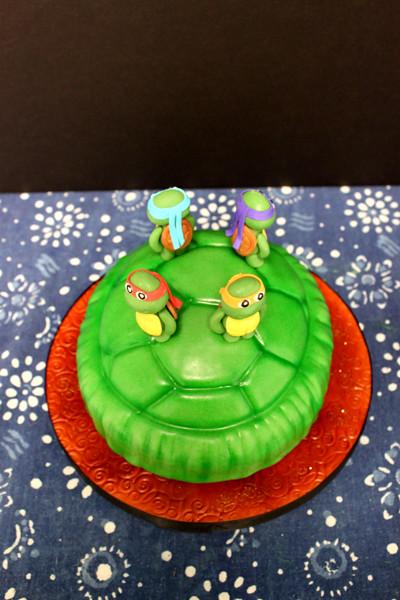 Astounding Teenage Mutant Ninja Turtles Birthday Cake Tracy Chong Flickr Funny Birthday Cards Online Alyptdamsfinfo