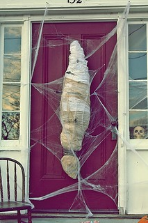 my sister's halloween front door | by maradajaccat