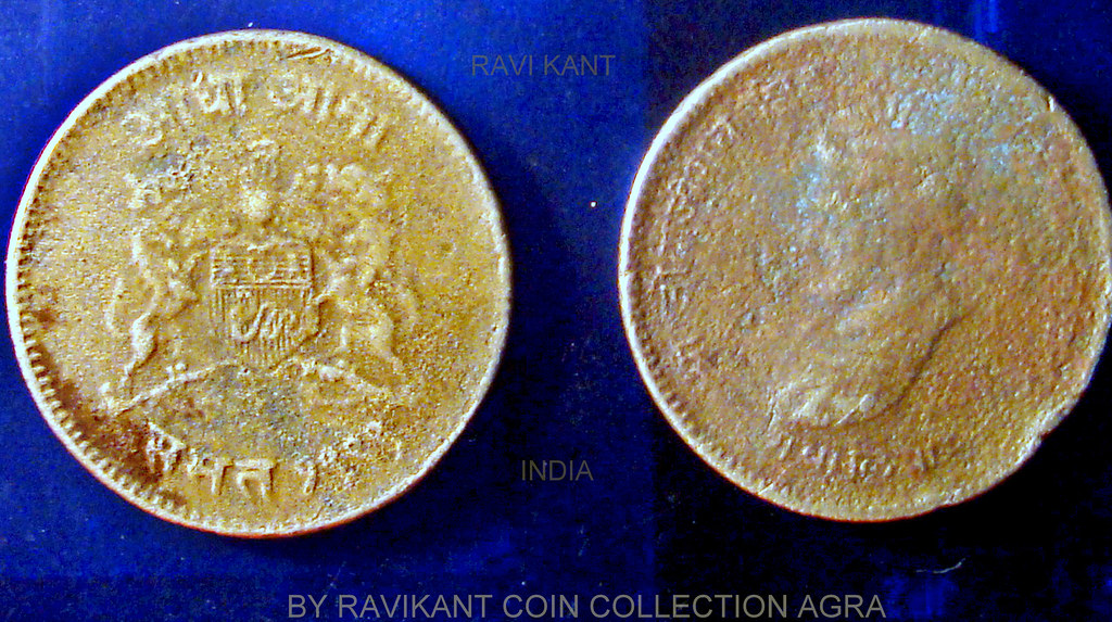 Gwalior India State Ancient Coin of India Gwalior