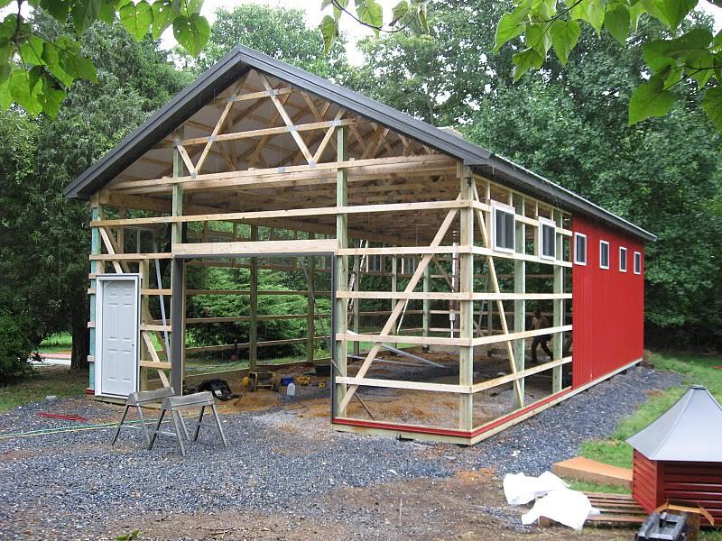 Diy Metal Barns : Diy pole barn the metal roof in charcoal