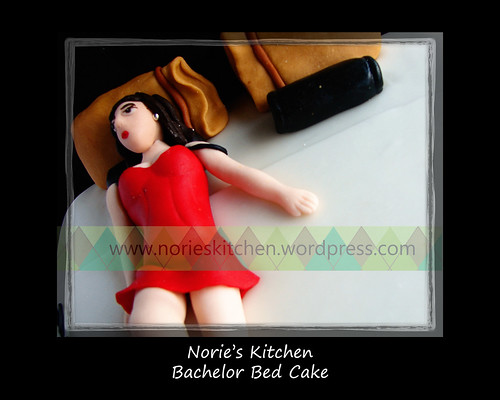 Norie's Kitchen - Bachelor Bed Cake - Lingerie Girl | by Norie's Kitchen