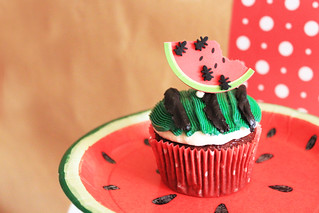 watermelon, red velvet | by cupcakedesign