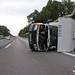 Wohnmobil umgestürzt A3 Niedernhausen 11.08.11