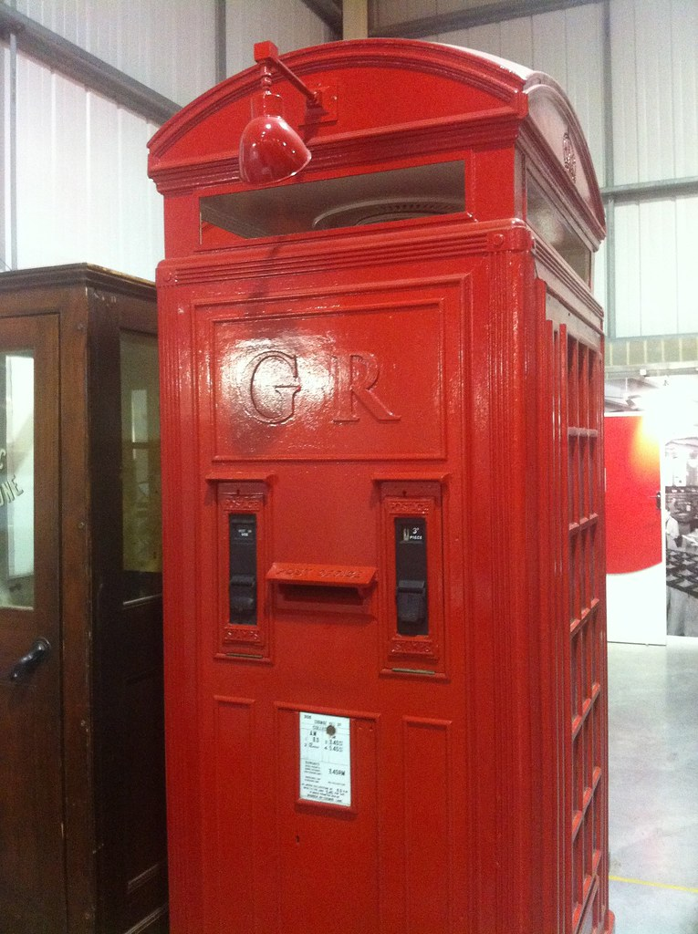 Experimental Phone Box With Stamp Dispensers