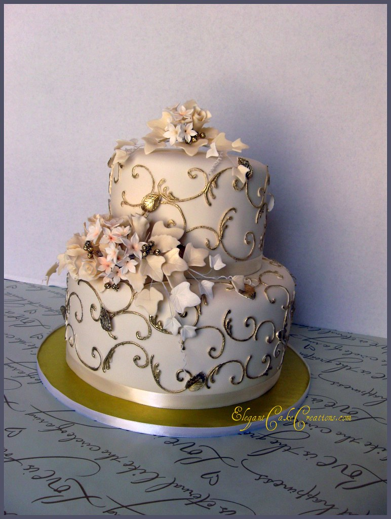 50th wedding anniversary cake a little cake that had to tr flickr. Black Bedroom Furniture Sets. Home Design Ideas