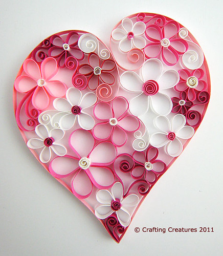 Quilled Heart of Flowers | by Paper Zen / Cecelia Louie