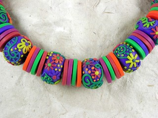 Rainbow necklace-detail | by My colourful journey