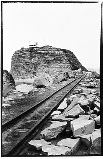 View of railway tracks to Nobbys Head Lighthouse, Newcastle | by Australian National Maritime Museum on The Commons