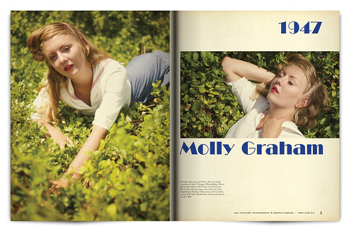 Vintage Magazine Spread Design Project - Pgs. 2 & 3 | by willstotler
