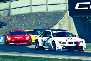BMW #56 in front of Pack at Road America Turn 6 Lemans 2011 Old Film Look | by chris favero
