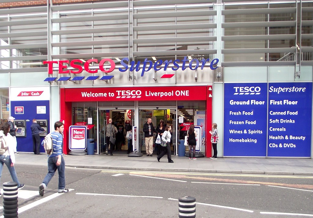 tesco is one of the leading supermarkets One plank of this strategy has been tesco's use of its own-brand products, including the upmarket finest, mid-range tesco brand and low-price value encompassing several product categories such as food, beverage, home, clothing, tesco mobile and financial services.