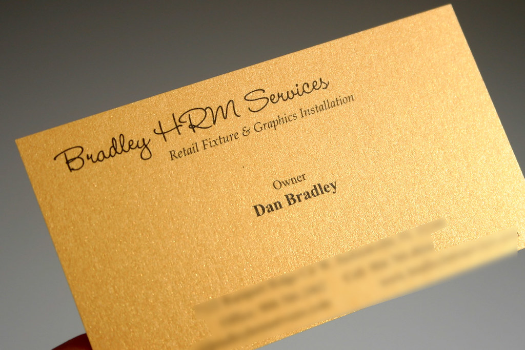 Star Gold: metallic paper business card | 240gsm / 90lb, met… | Flickr