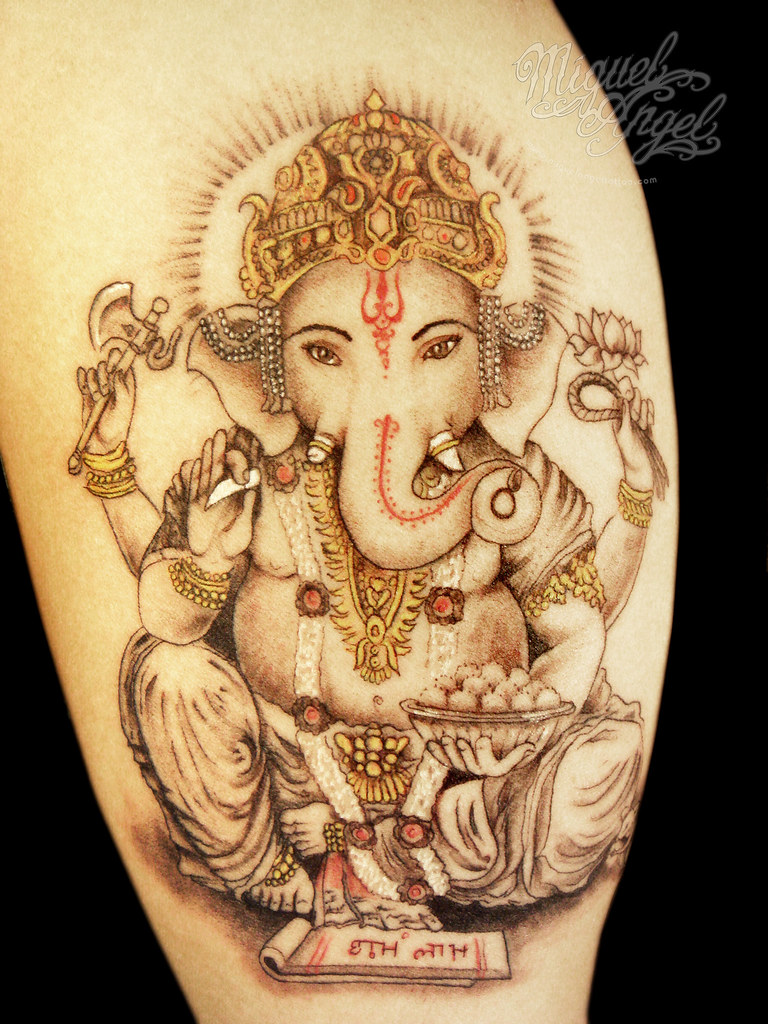 Ganesh Custom Tattoo 55 Inches Miguel Angel Custom Tatt Flickr