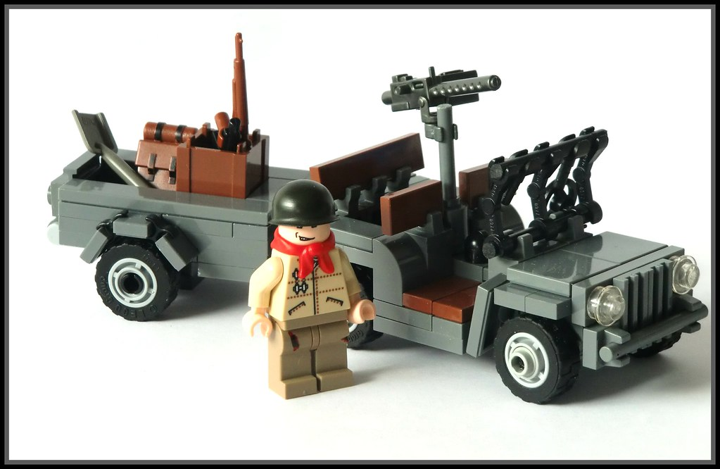 Lego Ww2 Willys Jeep With Trailer Im Feeling A Bit Sick Flickr