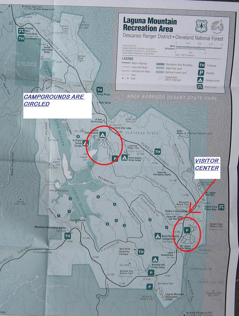 LATEST TRAIL MAP OF THE LAGUNA MOUNTAIN RECREATION AREA - … | Flickr
