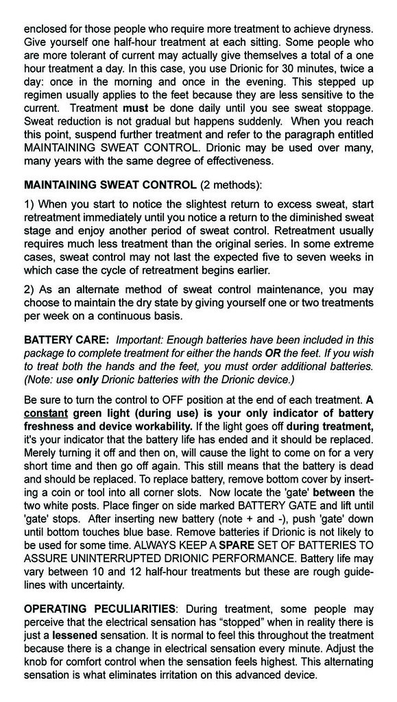 Drionic Treatment Instruction Manual Page3 Many People G Flickr